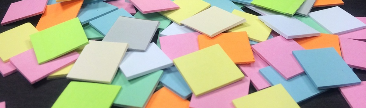Coloured Paper Sticky Notes